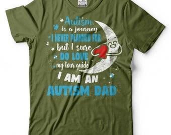 Autism Dad T-Shirt Autism Awareness Birthday Gift Father Dad Daddy Tee Shirt