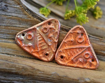 Handmade Rustic Copper Tribal Mask Components