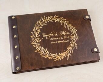 Wreath Photo Album, Photo Album, Wedding Album, Custom Wedding Album, Wood Photo Album, Guestbook, Wedding Guest Book, Guest Book, Wedding