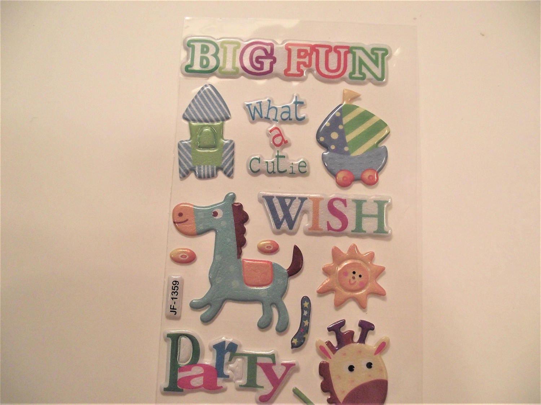 Puffy sticker set scrapbook stickers craft supplies for Stickers juveniles