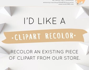 Recolor a Clipart Graphic.