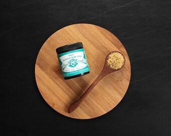 Basic - Fragrance-free, Scentless Turbinado Sugar Scrub in Amber Jar