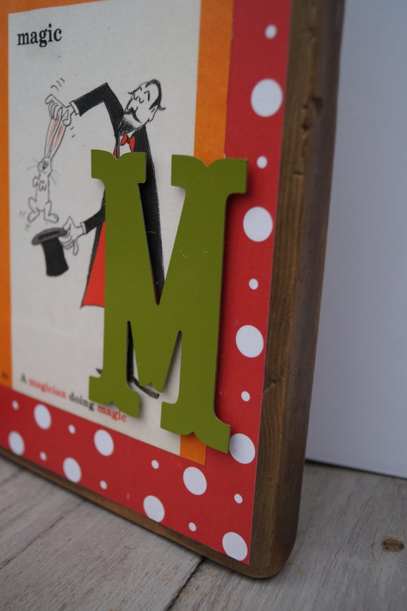 Dr seuss alphabet wall art letter m for Party wall act letter to neighbour