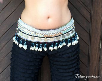 Belly dance, vintage belt, tribal fusion belly dance, gypsy belt, tribal fusion belt
