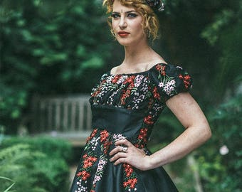 French Gypsy Dress Sewing Pattern