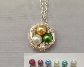 Custom Birdsnest Nest Eggs Nest Birds nest Necklace