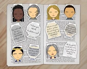 Throne of Glass Magnetic Bookmarks Set - Celaena, Rowan, Manon, Dorian, Nehemia, and Chaol Clips