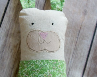 Stuffed Bunny Plushie // Personalized Easter Basket Gift // Soft Bunny Rabbit // Handmade Bunny Plush // Kids Easter // Custom Embroidery