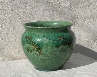 Vintage Libertys stoneware jardiniere  - vintage ceramic planter - vintage pottery - lobsters - pottery planter - English planter