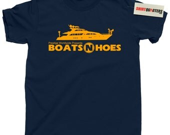 Step Brothers Boats N and Hoes Prestige Worldwide Will Ferrell Brennan Huff John C Reilly Dale Doback Anchorman 2 Ricky Bobby yacht T Shirt