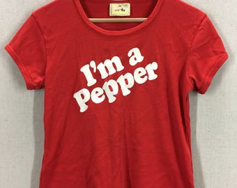 Vintage 80's Dr Pepper I'm A Pepper Soda Pop T-Shirt 50/50 Fits like a Small USA