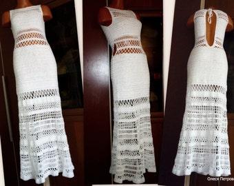 Wedding Dress, Maxi Crochet dress, Boho Wedding Dress, Lace wedding dress, Casual wedding dress, bohemian wedding dress, beach wedding gown