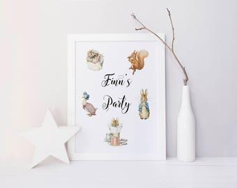 beatrix potter, beatrix potter personalised print, personalised quote print, personalised beatrix potter print, childrens nursery print
