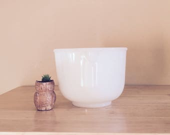 Sunbeam Glasbake White Milk Glass Small Mixing Bowl # 17