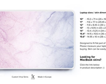 Marble laptop skin pink marble pc skin notebook cover hp lenovo dell laptop skin pink purple marble decals laptop stickers #Weekend marble