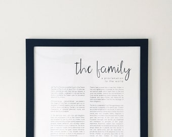 The Family: A Proclamation to the World - Modern LDS Print