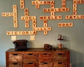 Scrabble Wall Tiles, Scrabble Letters, Scrabble Tiles, Scrabble Wall Art, Family Scrabble Tiles