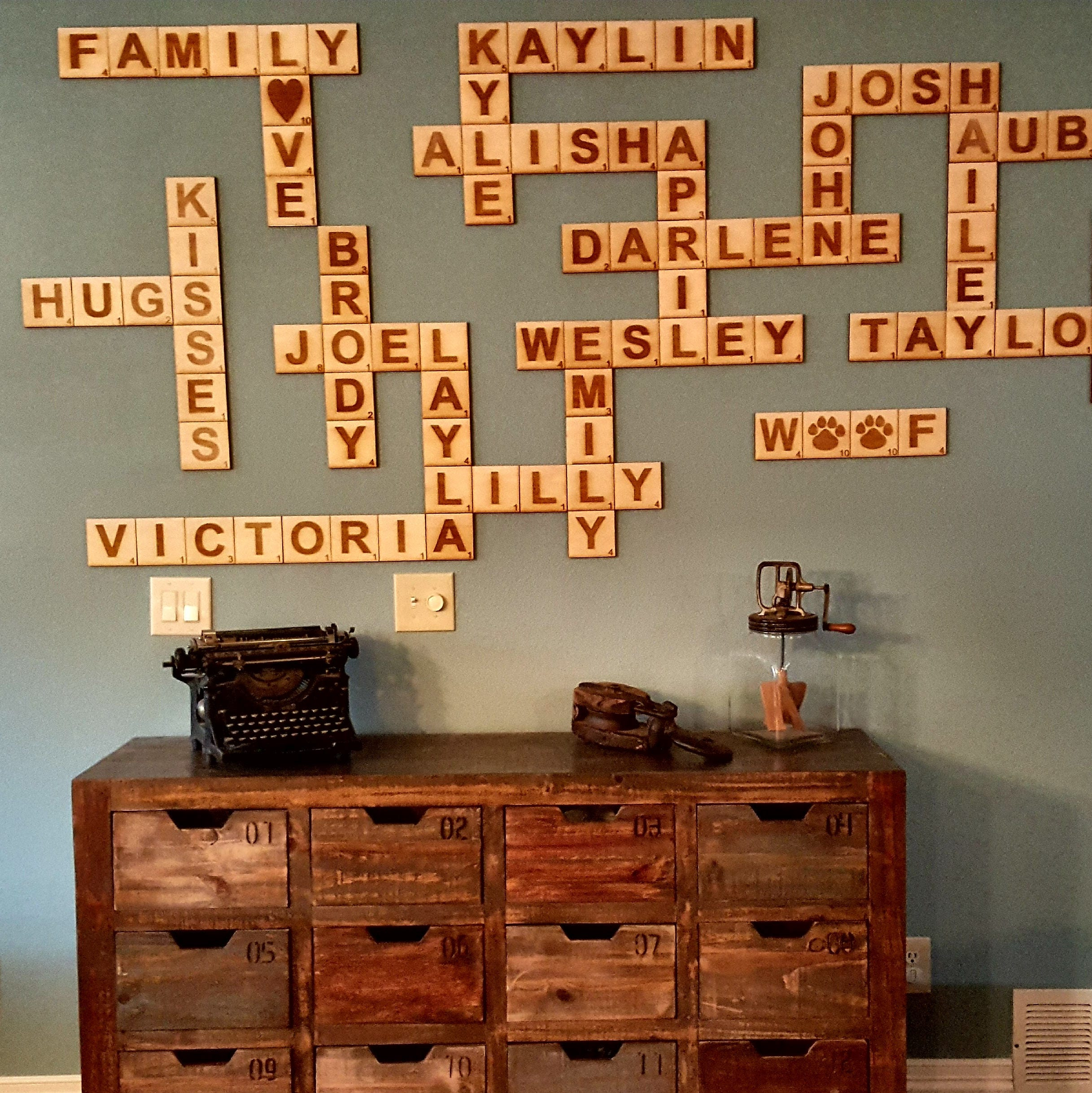 Scrabble Wall Tiles, Scrabble Letters, Scrabble Tiles, Scrabble Wall Art,  Family Scrabble Tiles