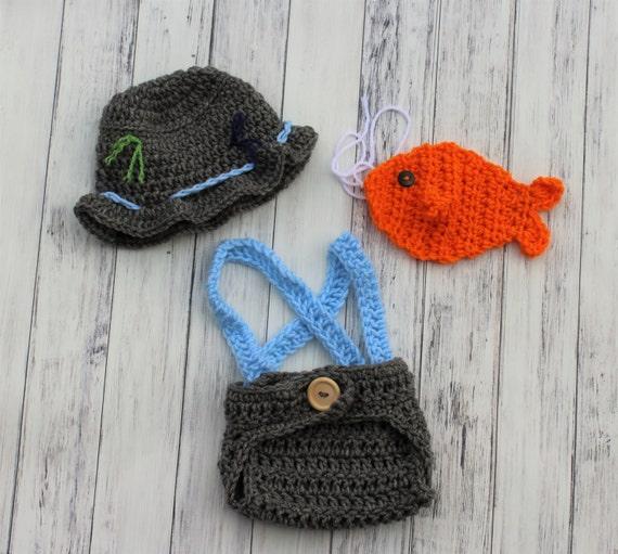 Baby fishing hat crochet baby hat baby fishing set crochet for Baby fishing hat