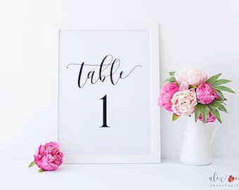 Table Numbers Printable. Table Number For Wedding. Wedding Table Numbers Printable. Wedding Table Decor. Table Numbers Sign. Wedding Decor.