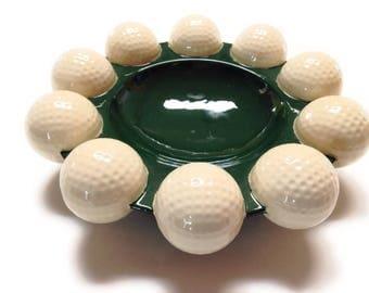 Vintage Golf Ball Ashtray Bowl by HOLLAND MOLD