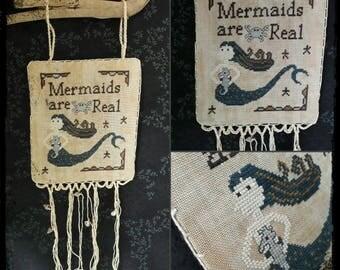 Mermaids are Real - PDF Cross Stitch Pattern