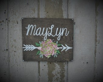 Custom Name Sign Wall Plaque Rustic Wood Decor Farmhouse Wall Decor Nursery Decoration Baby Shower Gift Personalized Name Sign Rustic Home