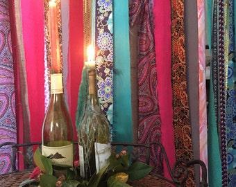 Bohemian Curtain 7' drop Hippie Curtain Garland Junk