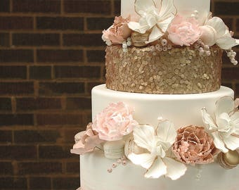 rose gold love wedding cake topper cake topper etsy 19279