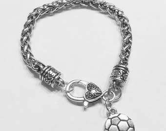 Soccer Charm Bracelet, Sports Soccer Mom Charm Bracelet