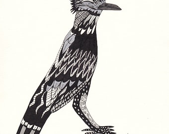 Pen & Ink Roadrunner Print