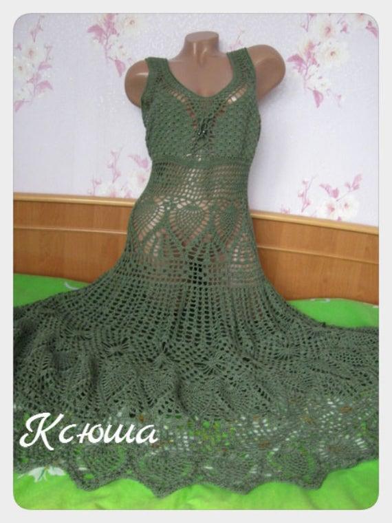 """Sarafan """"Openwork"""", Knitted dress"""