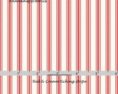 Red Ticking Stripe Fabric, Cream & Red Ticking Quilt Fabric, Red Rooster Fabrics Country Days 26620, Heidi Boyd, Cream and Red Cotton