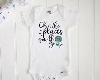 Dr Seuss ONESIE® //New baby ONESIE® // Unisex Onesie® // First Birthday Onesie® // Oh the places you'll go Onesie® // New baby gift