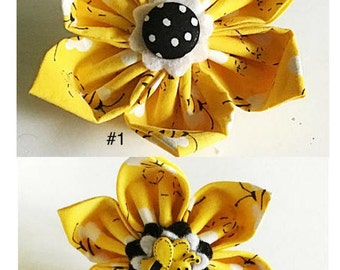 Bumble Bee Collar Flower for Dogs and Cats