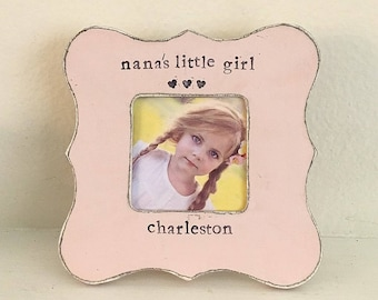 Grandma picture frame gift for grandma  Mother's Day Personalized picture frame from baby grandchild  - Flowers in December Design Studio