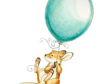 Kangaroo, Joey, Kangaroo Watercolor, Kangaroo Print, Watercolor Nursery, Australian Nursery, Australian Animal, Baby Shower Gift, Nursery