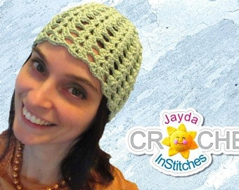 Crochet Cloche Hat - Vintage-Inspired Lace Beanie for Ladies in Split Shell Pattern - PDF