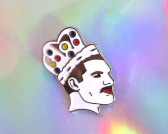 freddie mercury pin enamel jewelry queen band lapel pin