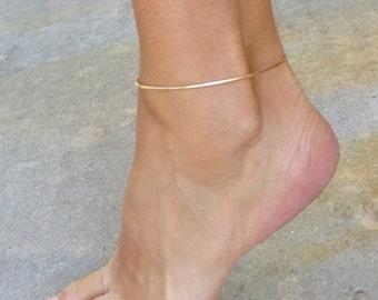 Gold Anklet, gold ankle bracelet, anklet, boho anklet, simple anklet, gold anklet, gold jewelry, beach anklet, ankle bracelet gold