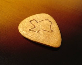 Texas - Engraved Wooden Guitar Pick