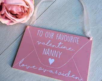 will you be my valentine? nanny gift, funny valentines gift, valentines gift for her, valentines gift single friend, auntie gift