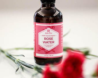 ROSEWATER by LEVEN ROSE - 100% Organic Natural Moroccan Rosewater (Chemical Free) - 4 oz