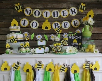 Beautiful Bumble Bee Baby Shower Banner   Bumble Bee Banner, Mother To Bee Banner,  Spring