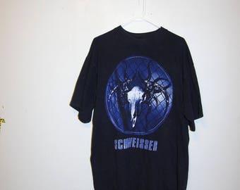 1994 SCHWEISSER Eisenkopf logo black t-shirt size extra large