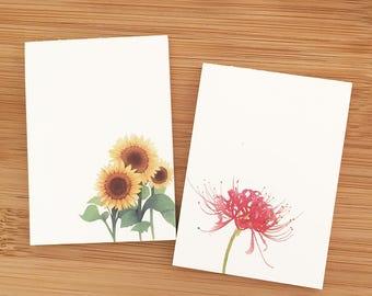 Floral Memo Pad Set - Autumn (2 pcs) Korean Stationery Flower Cute Paper Notepad  Ask a question