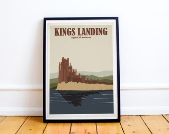 Kings Landing Travel Poster - Game of Thrones Travel Poster - Capital of Westeros (Available In Many Sizes)