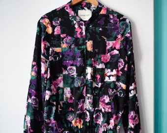 SALE   Silky floral bomber jacket   XS/S