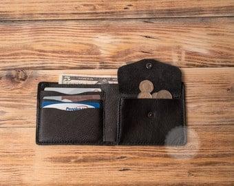 mens leather wallet mens wallet slim wallet leather card holder wallet leather coin purse wallet travel wallet minimalist wallet black