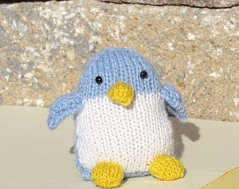 Penguin, Organic Toy, Alpaca Toy,  Baby Toy, Stuffed Penguin, Knitted Animal, Eco Friendly Toy, Toy with Wool Stuffing, Small Toy, Penguin